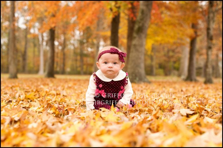 Fall Leaves Six Month Baby