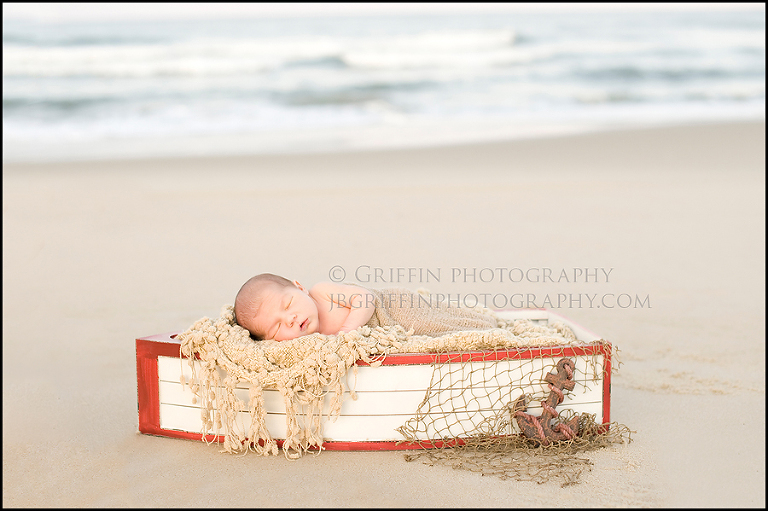 newborn photographer virginia beach oceanfront boat baby