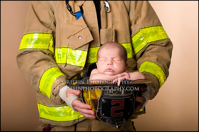 virginia beach newborn photographer fire fighter helmet newborn norfolk
