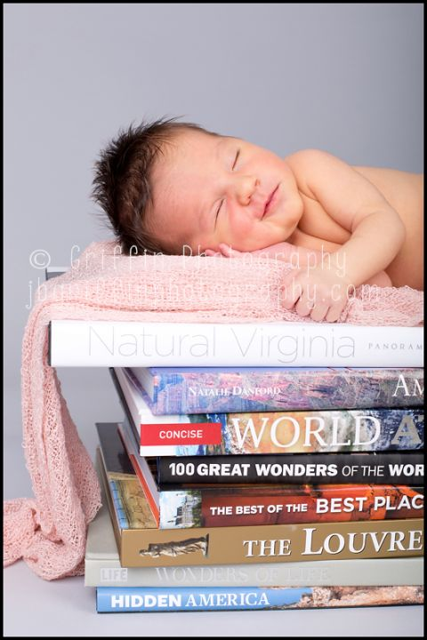virginia beach world traveler newborn portrait books