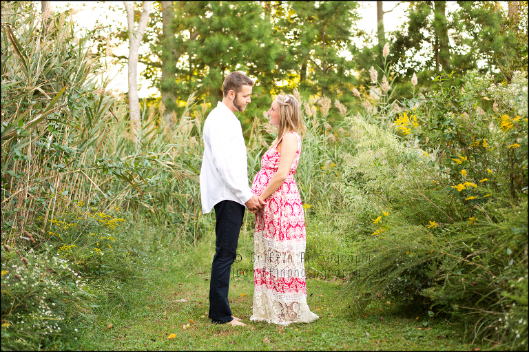 virginia beach couple maternity portrait outdoor